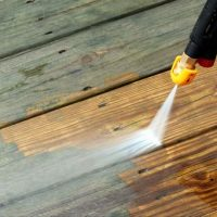High pressure cleaning - decks, driveways, paved areas, retaining walls